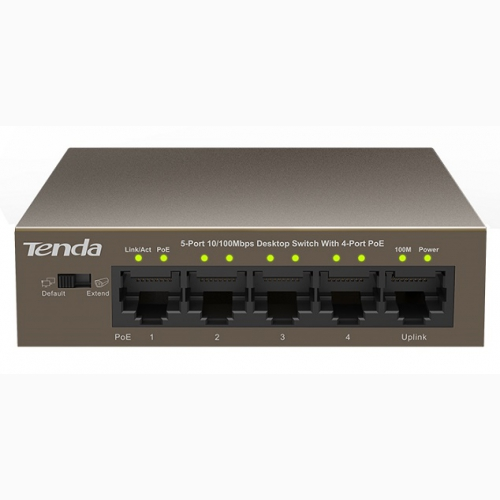 5-port 10/100Mbps + 4-port PoE Switch TENDA TEF1105P