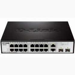 16-Port Smart Switch + 2 slot SFP D-Link DES-3200-18