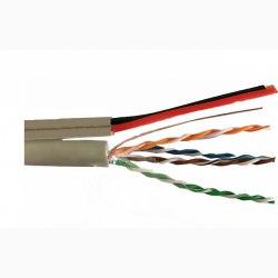 Cáp LAN liền nguồnVCOMCAT5e UTP + 2VCm0.4 thiết kế số 8(L524013)