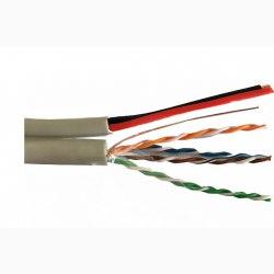 Cáp LAN liền nguồnVCOMCAT5e UTP + 2VCm0.75 thiết kế OVAL(L524009)
