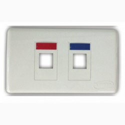 Mặt nạ 2 port Faceplate Kit Shutter COMMSCOPE