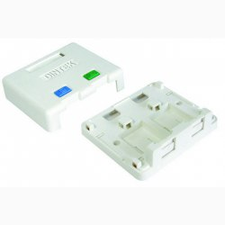 Ổ mạng nổi 2 port Dintek - Surface mount box