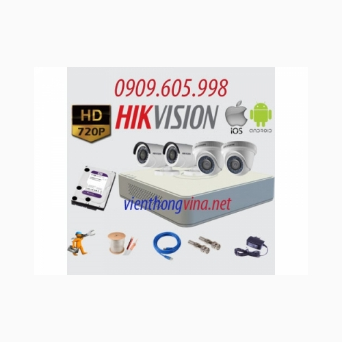 Trọn bộ camera HD HIKVISION